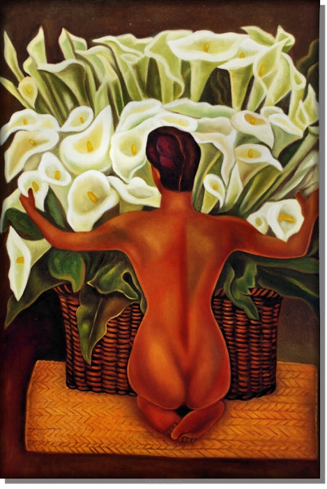nude with calla lillies